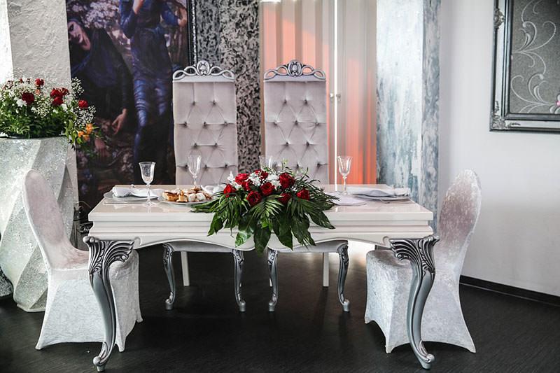 цветы на свадебных столах