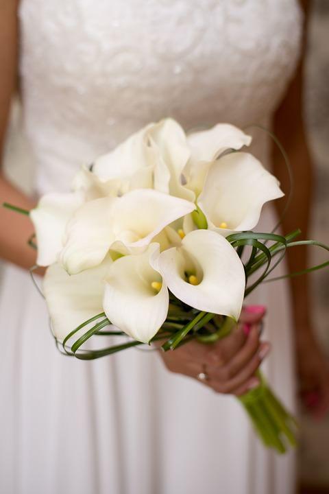 Свадебные букеты из калл фото галерея