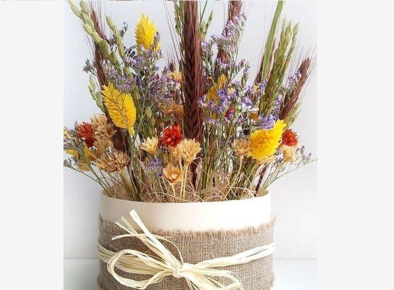 Букет из сухоцветов своими руками