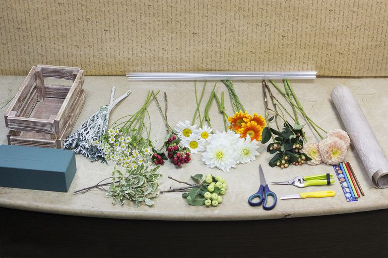Как сделать букет из садовых цветов