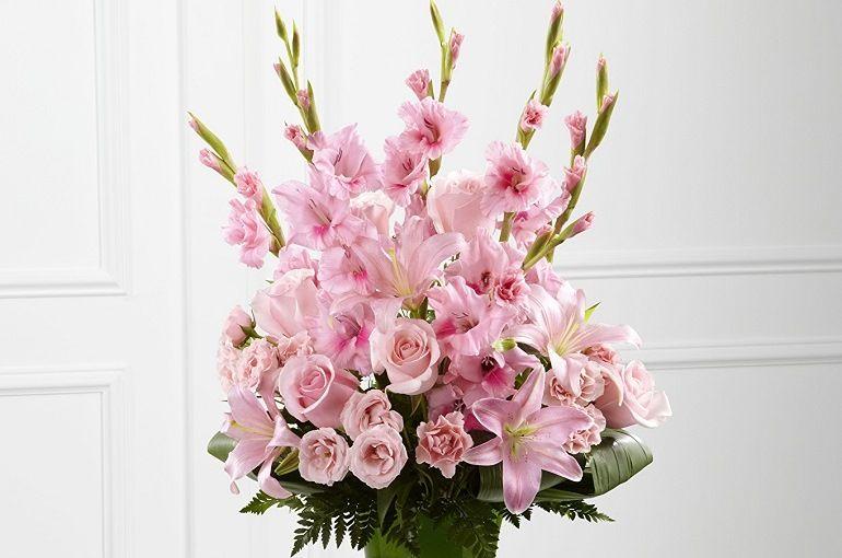 Напольная интерьерная композиция «Розовое чудо»