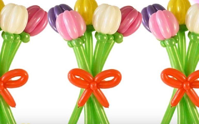 Готовые букеты из воздушных шаров