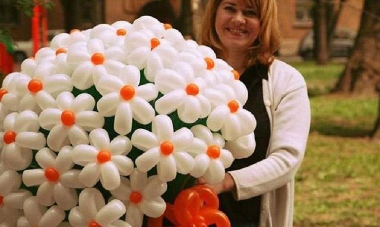 Большой букет из шаров