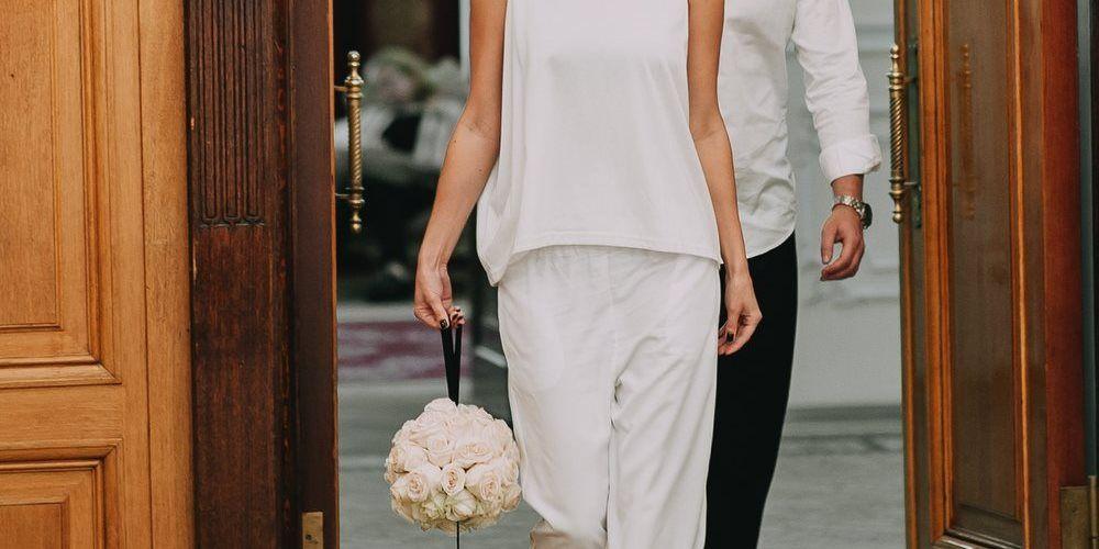 Свадебный букет-помандер из живых цветов