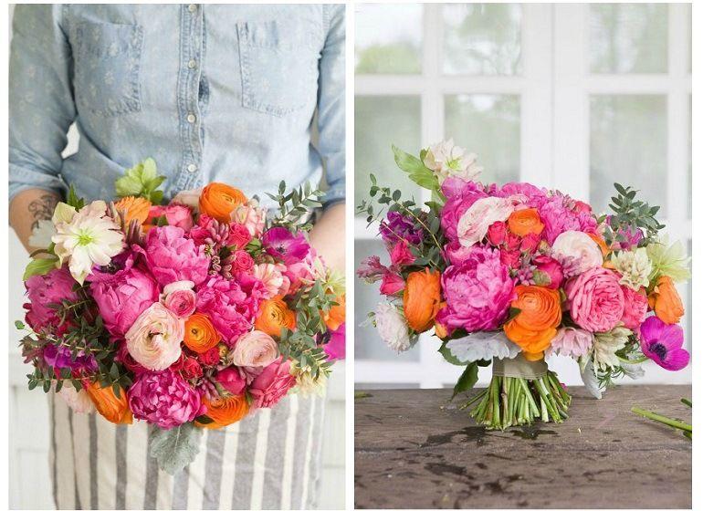 Букет для невесты из садовых цветов