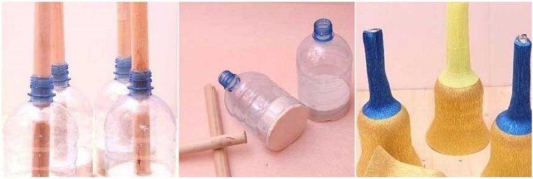 Основа под букет из пластиковой бутылки