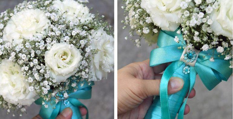 Как оформить свадебный букет