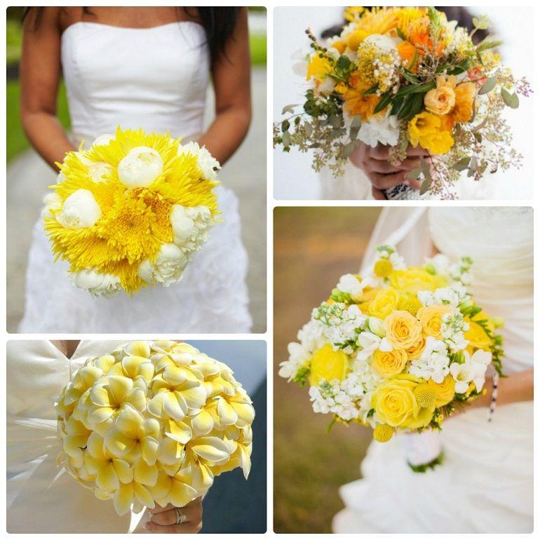 Цветочные композиции из желтых цветов