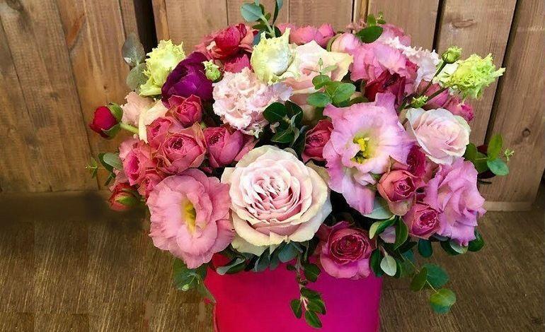 Цветочный подарок для мамы