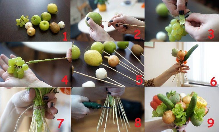 Что потребуется для изготовления букета из овощей