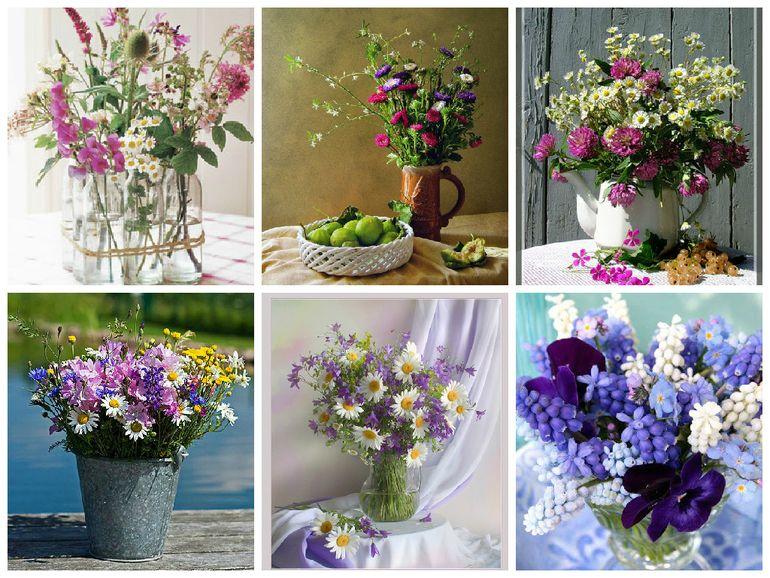Примеры букетов полевых цветов