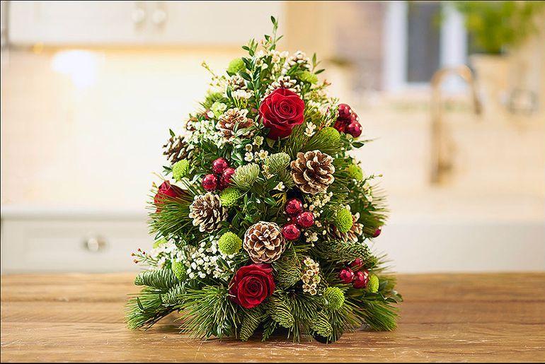 """Мастер-класс по изготовлению новогоднего букета из ели """"Цветочное дерево"""""""