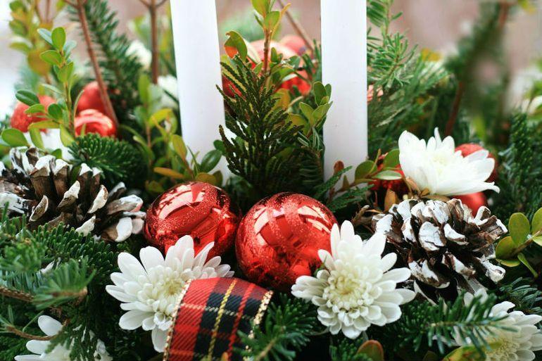 Мастер-класс по изготовлению новогодней композиции из ели