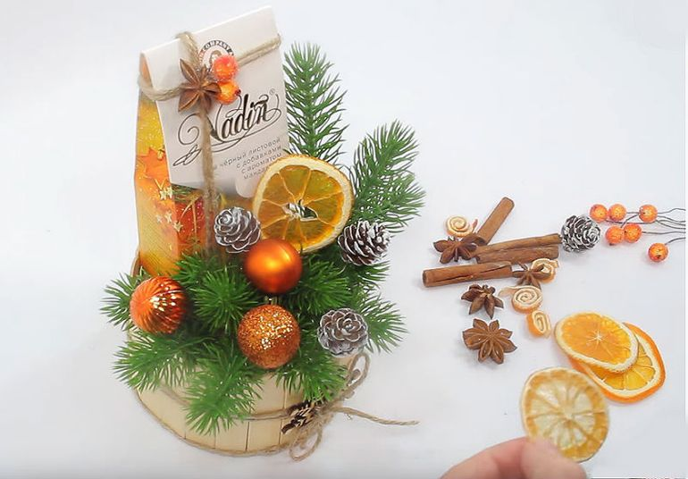 Мастер-класс по изготовлению новогоднего букета из чая