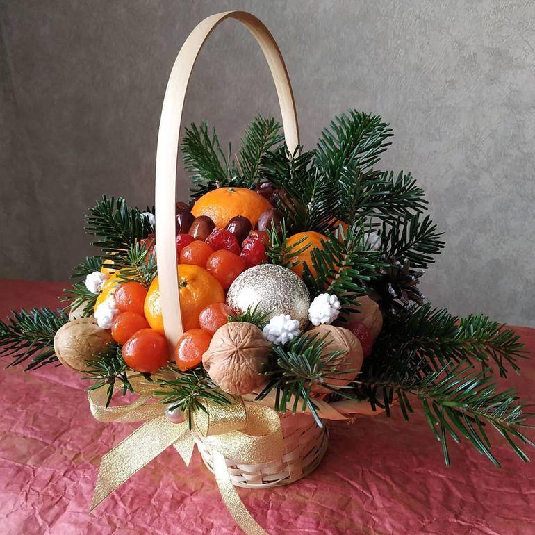 Новогодние букеты из сухофруктов - лабиринт