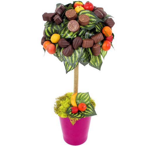 Дерево из конфет фото