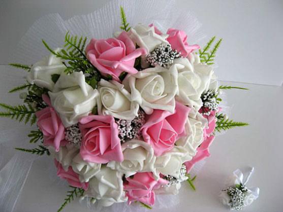 Свадебные букет из роз