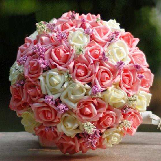 Свадебный букет из роз фото