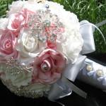 Свадебный букет из атласных лент своими руками