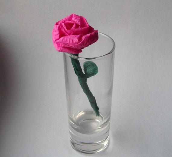 цветы из салфеток - роза
