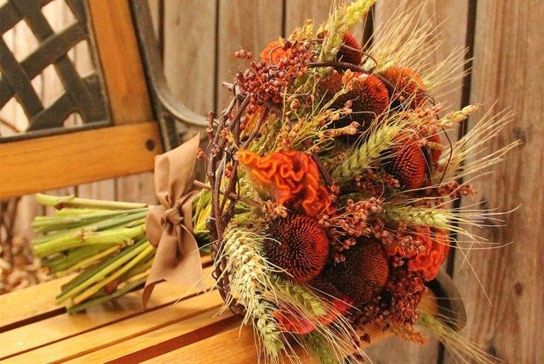 Осенний букет для детского сада