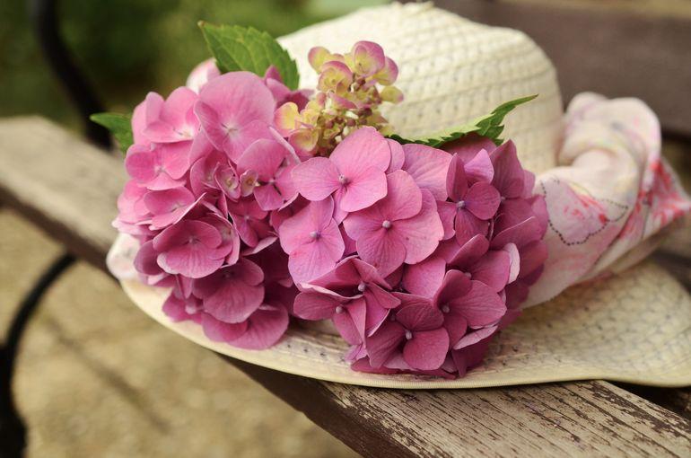 Шляпка с живыми цветами