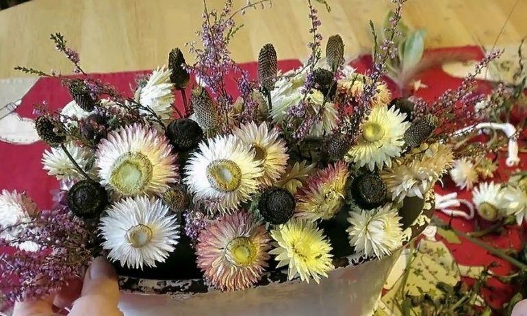 МК букет из сухоцветов своими руками