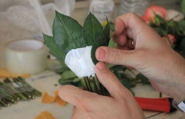 МК Основа для свадебного букета своими руками