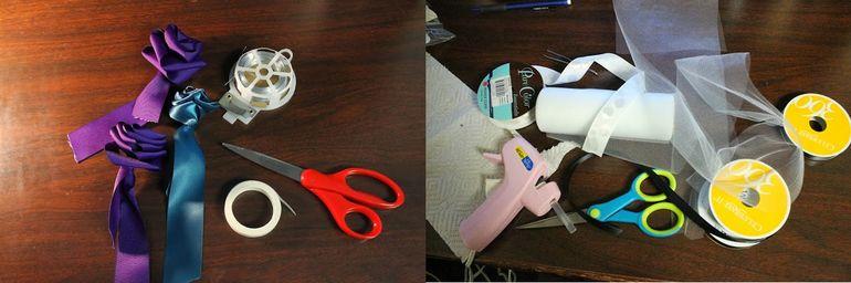 Как сделать букет из атласных лент своими руками