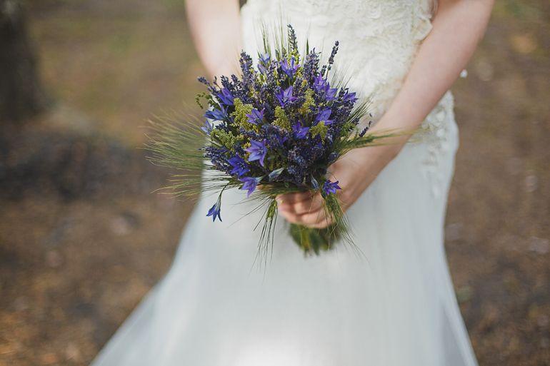 Букет невесты из васильков