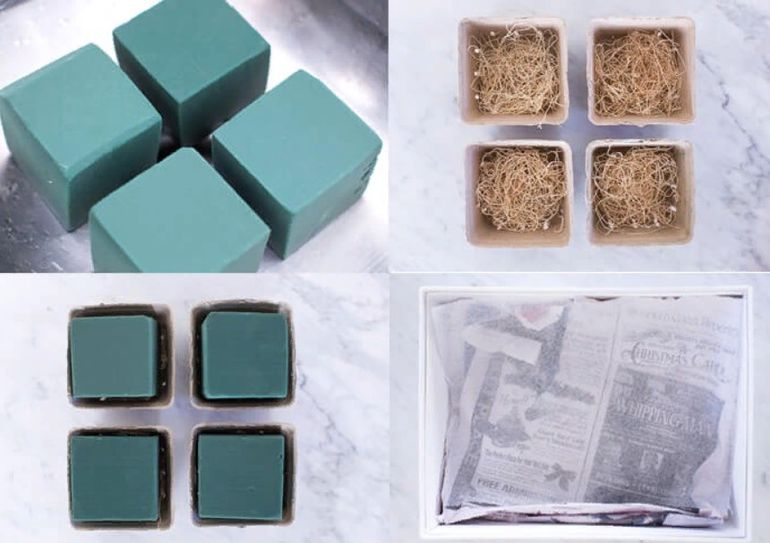 Как сделать букет в коробке
