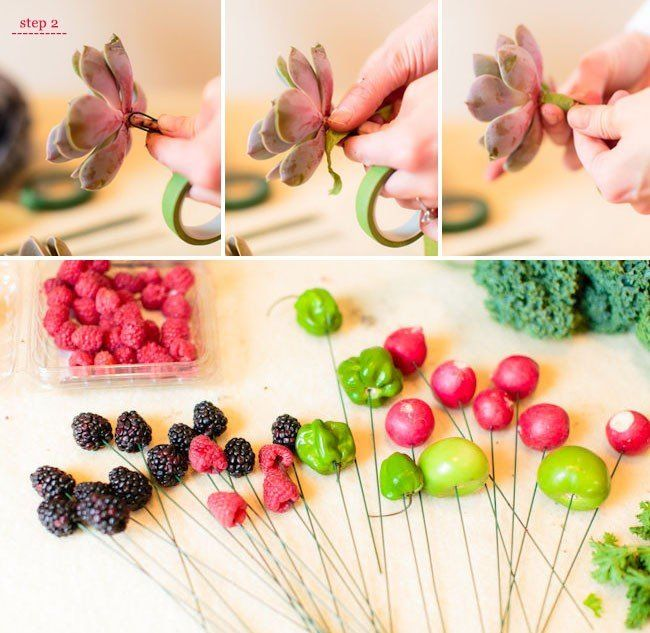 фруктово цветочный букет своими руками