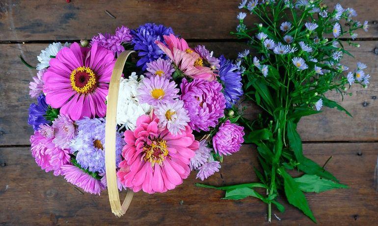 Букет из садовых цветов