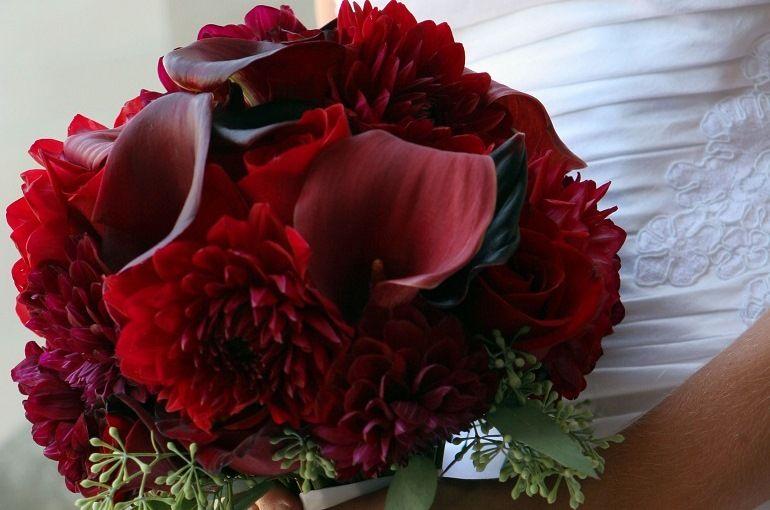 «Яркое бордо для невесты»
