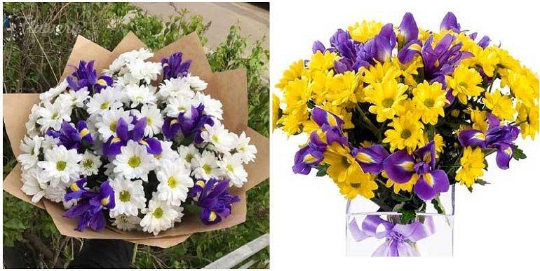 Цветочные композиции из хризантем