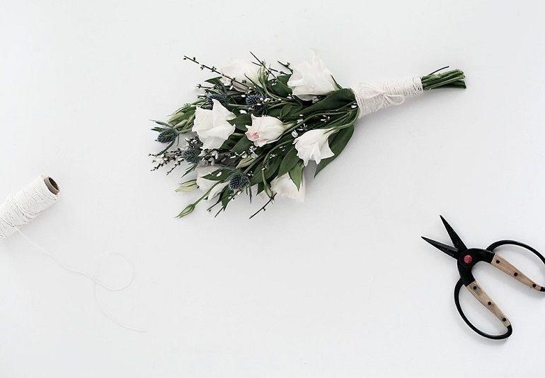 Букет: веревка, нитки, шпагат, ленты