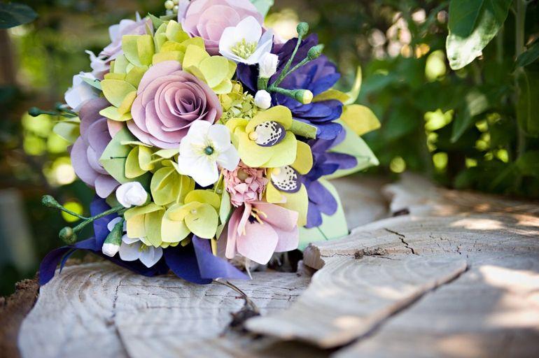 Искусственный букет невесты