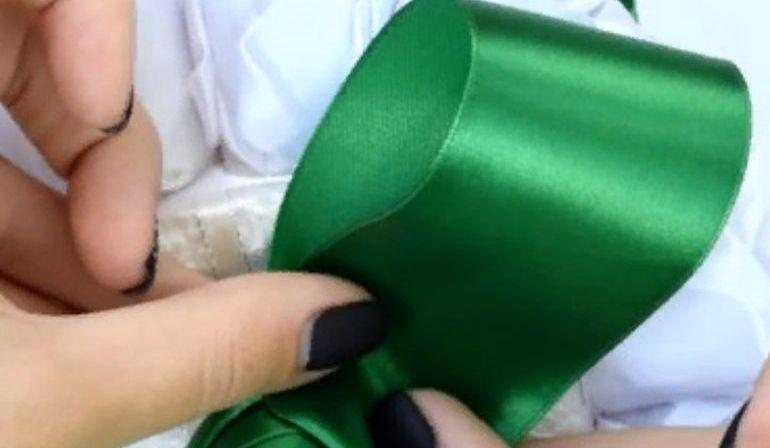 Изготовление букета из лент своими руками
