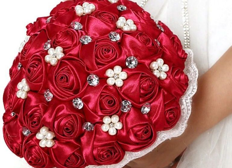 Свадебный букет из лент