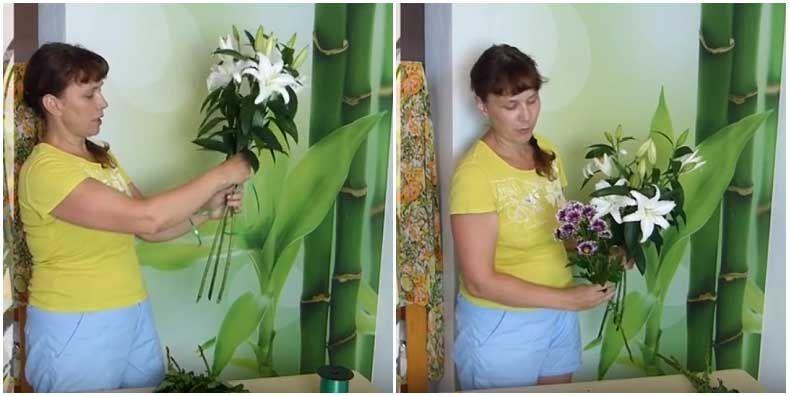 Лилии кустовая хризантема