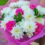 Букет из роз и хризантем своими руками