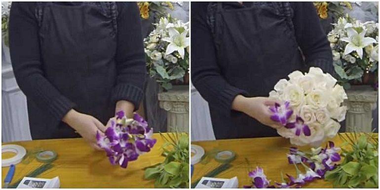Бутоны орхидей на проволоке