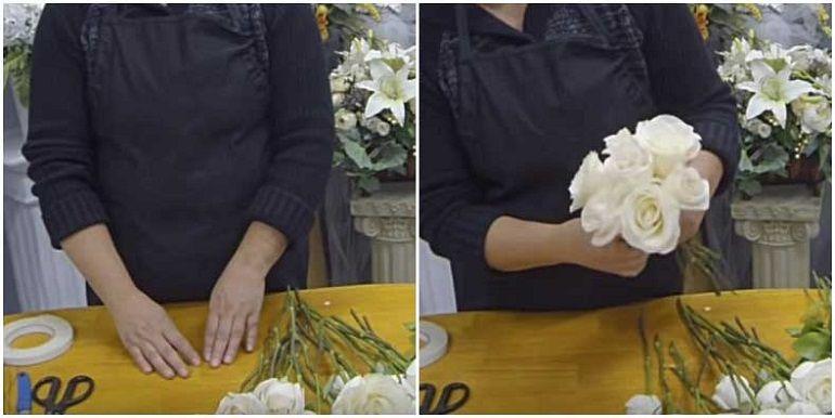 Крупные розы в букет