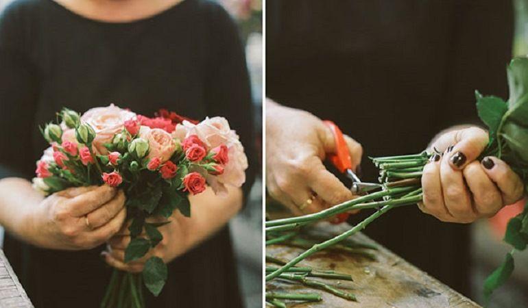 Обрезка, сборка цветов