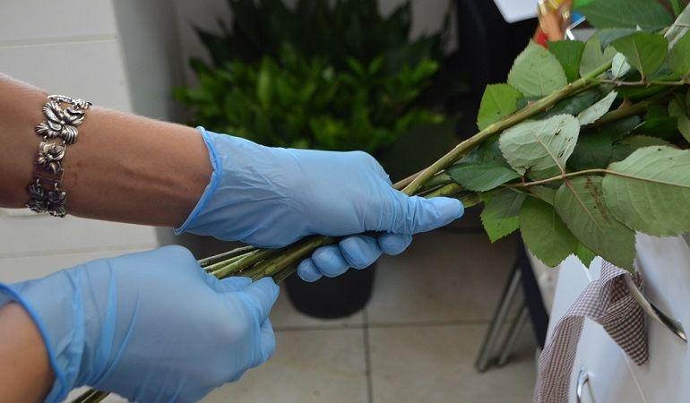 Розы в спиральной технике