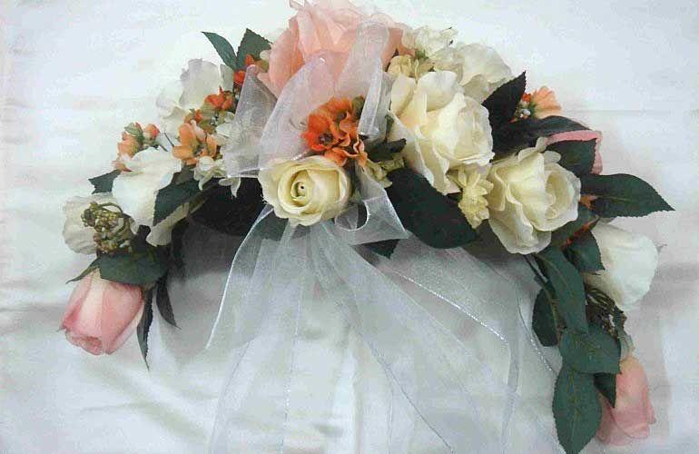 Серповидный букет невесты