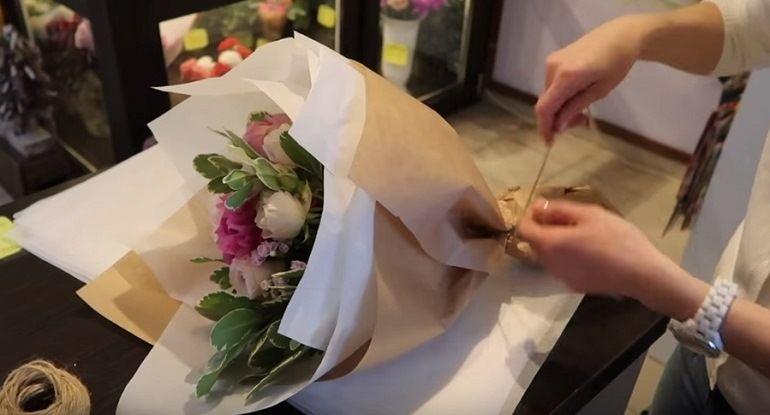 Фиксация букета шпагтом