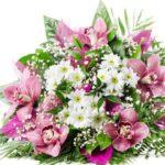 Невероятные букеты из хризантем и альстрёмерий