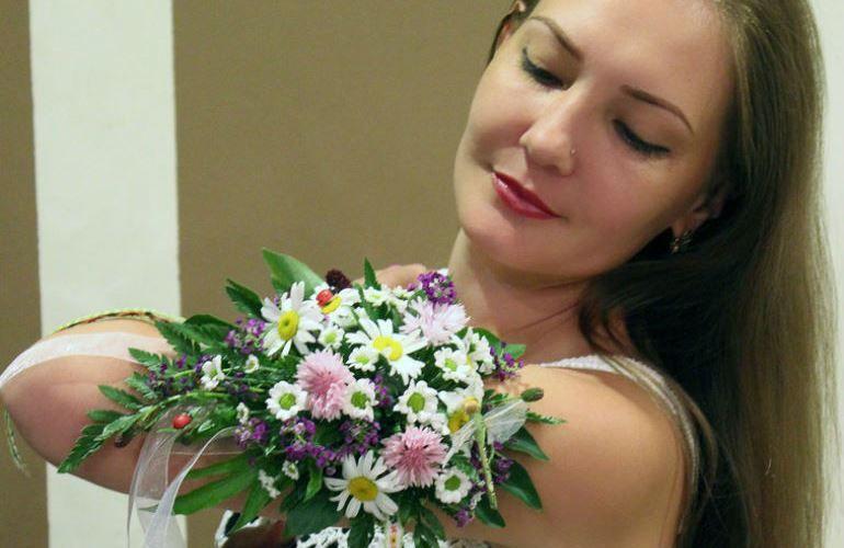 Цветочный свадебный браслет