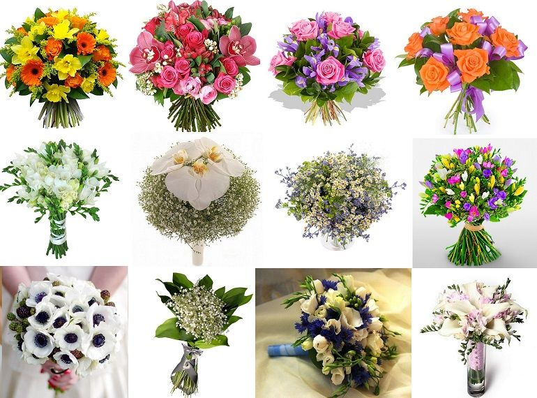 Как собрать букет из живых цветов
